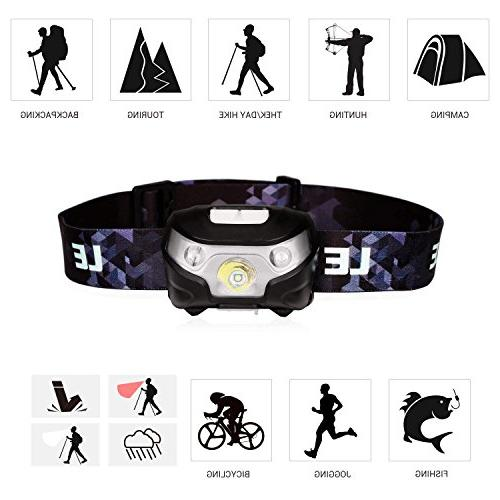 LE Rechargeable LED 5 Lighting Headlight for Running, more, Cable
