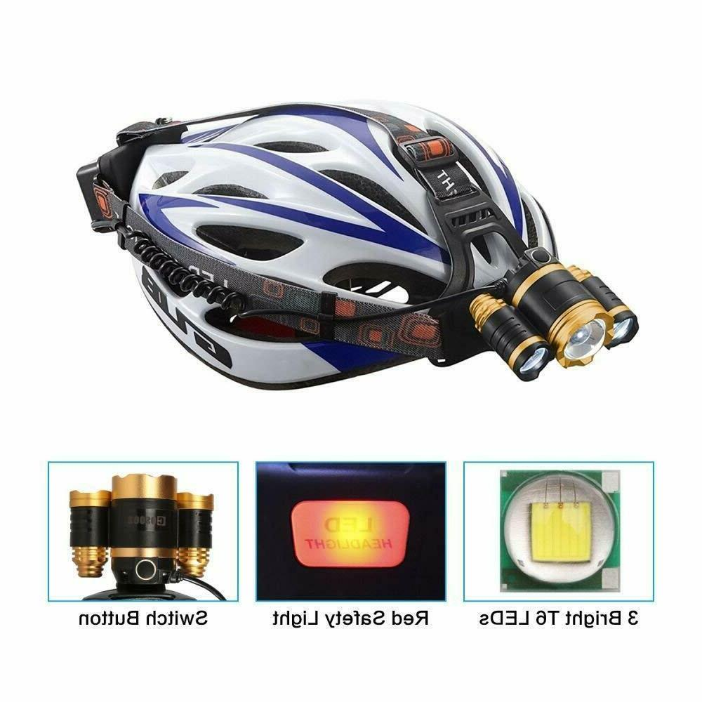 LED Headlamp Headlamps Flashlight Rechargeable Headlight
