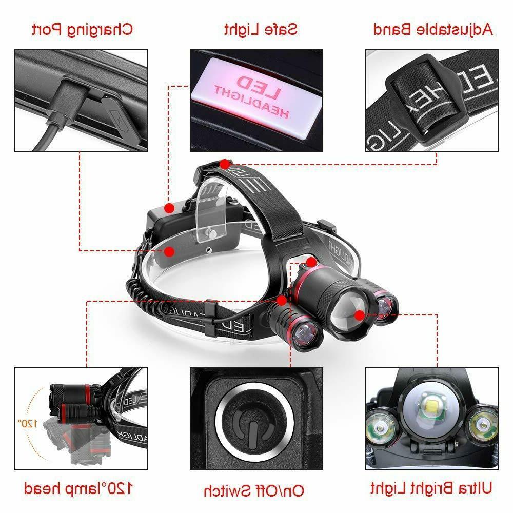 LED Headlamp Flashlight Headlight Waterproof