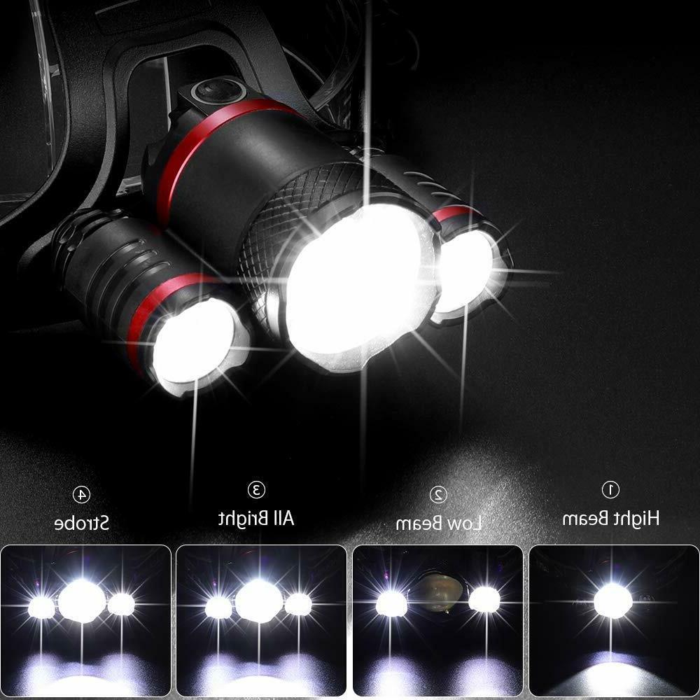 LED Headlamp Flashlight Rechargeable