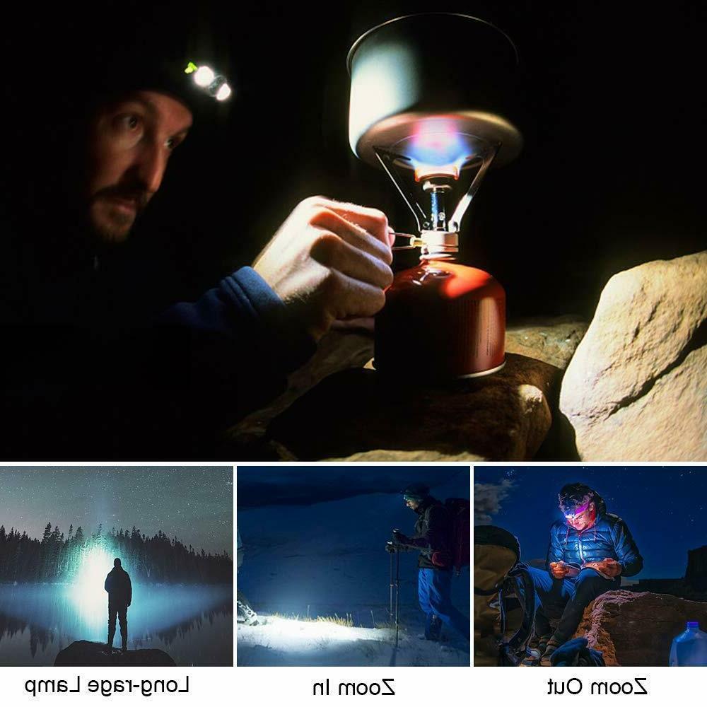 LED Headlamp Brightest Headlamps Flashlight Rechargeable Headlight Waterproof