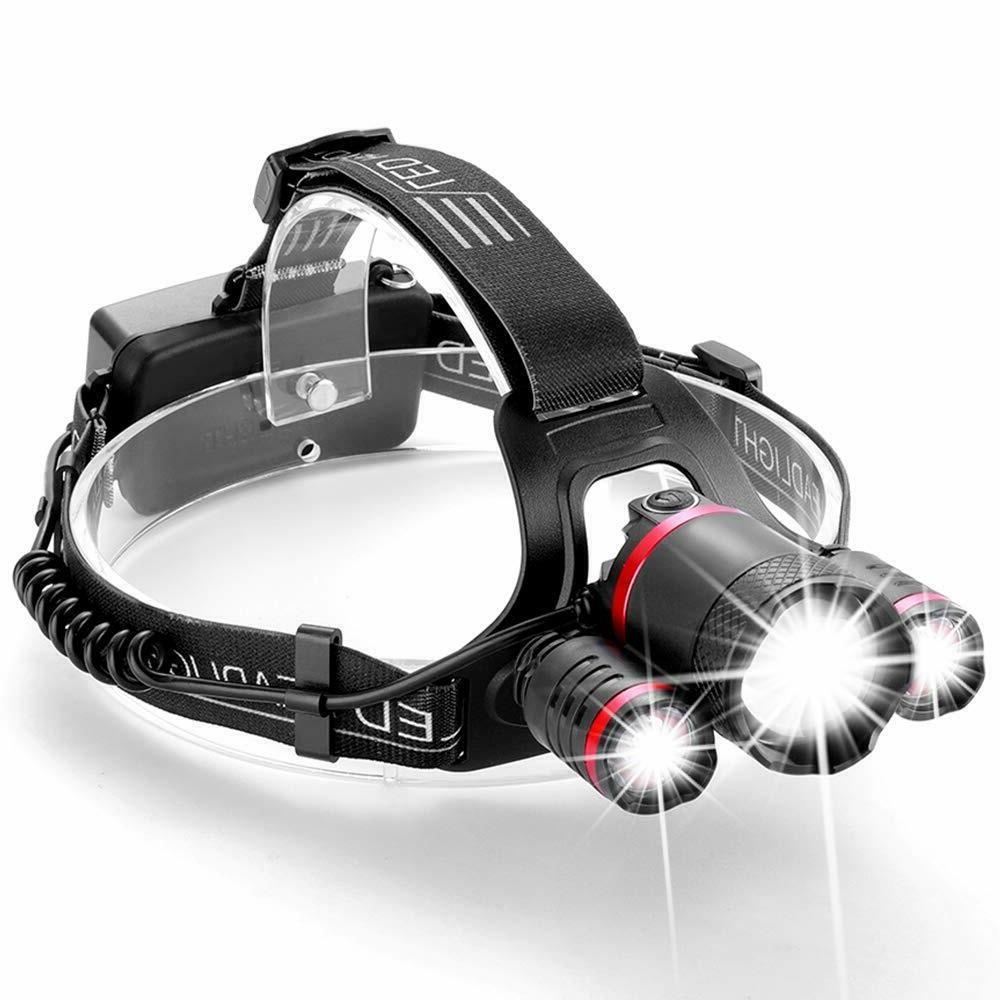 led headlamp brightest headlamps flashlight rechargeable hea