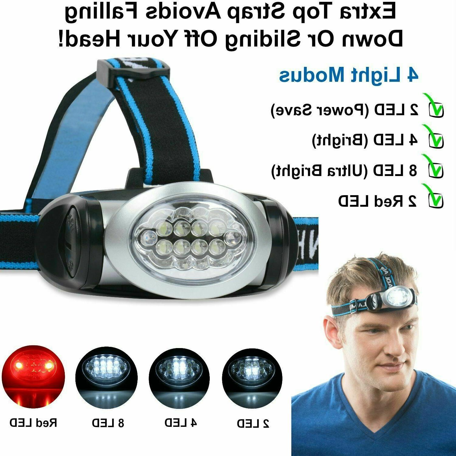 LED Headlamp Red Lights Camping,