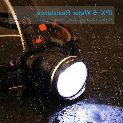 LED Flashlight Zoomable Head Hands