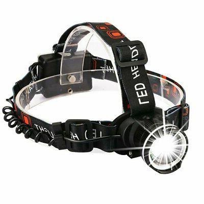 led headlamp flashlight zoomable head band light
