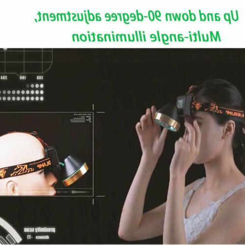 LED Headlamp Camping Head Torch Hands-free Flashlight
