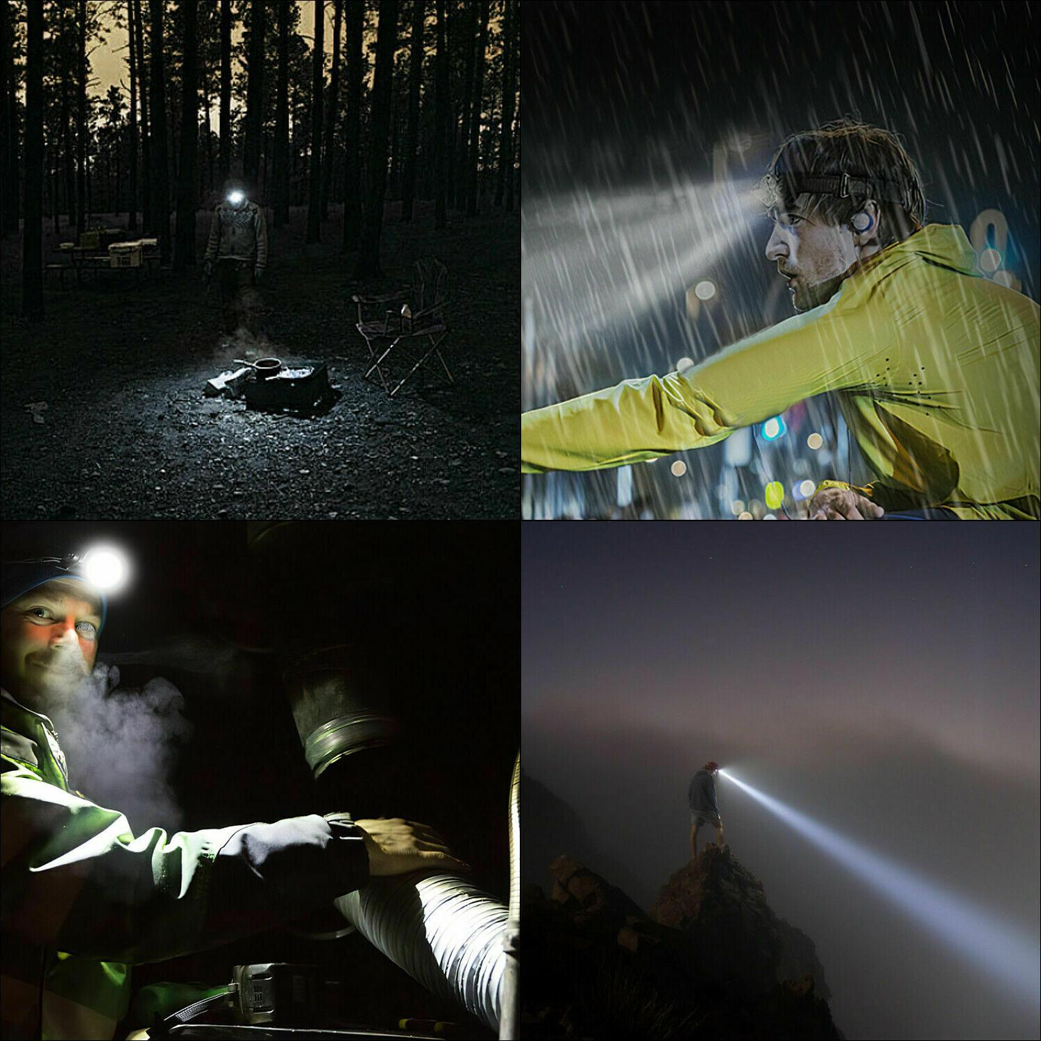 LED Flashlight Waterproof Head Torch Camping