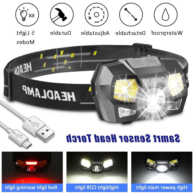 led headlamp usb rechargeable headlight head lamp