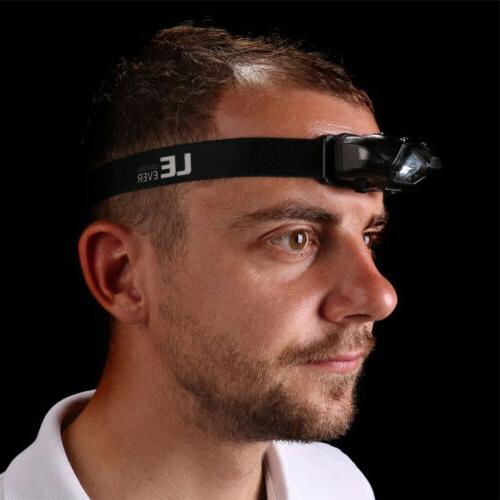 Headlamp LED 4 Modes Headlight, Battery Powered, Helmet Ligh