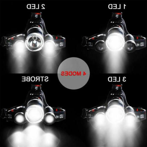 LED Headlight Camping With Battery Car