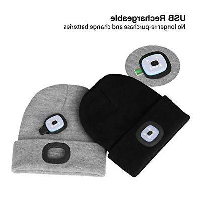 LED Beanie Headlamps Flashlight Tools Home Improvement Safety Security