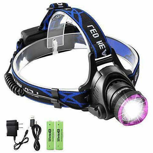 Led Rechargeable Headlamp, Genwiss Brightest Head Lamp, 5000