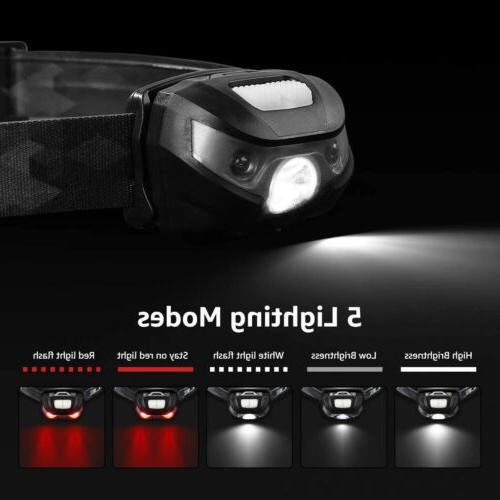 USB Rechargeable Hands Free Head Outdoor Lamp LED