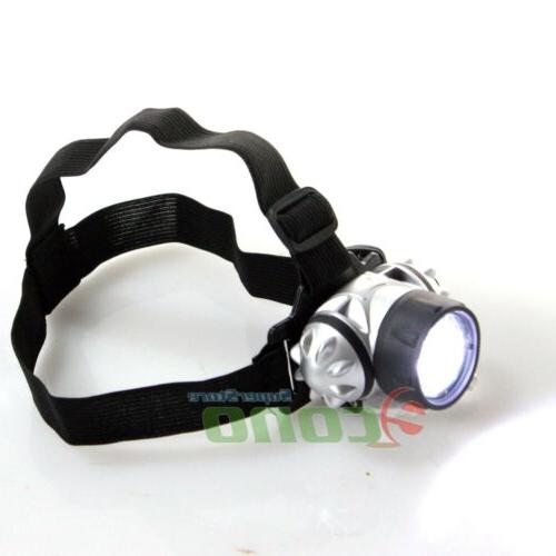lot 2 hands free led headband flashlight