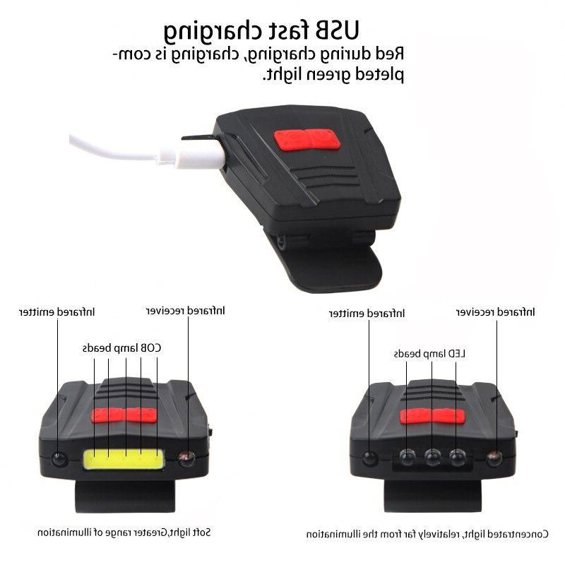mini cob sensor head light rechargeable led