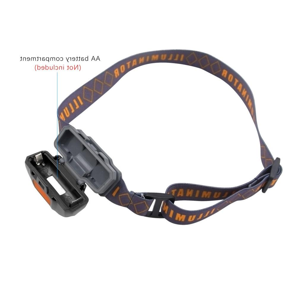 ANYIGEDEJU Mini Head 3 Modes LED Flashlight Torch with Use Battery