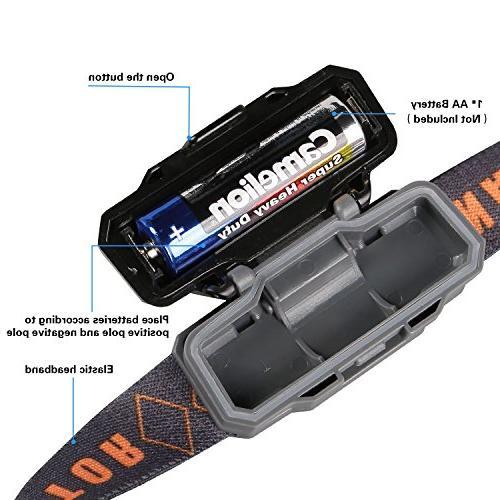 Mini LED Headlamp with Case,Waterproof Running Lamp,Best Runner, Night 1.6oz/48g