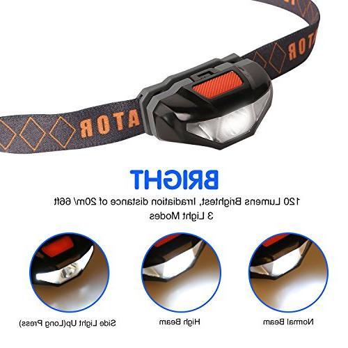 Mini LED with Case,Waterproof Running Runner, Night Jogging,Hiking,Biking,Camping,Reading,Dog 1.6oz/48g