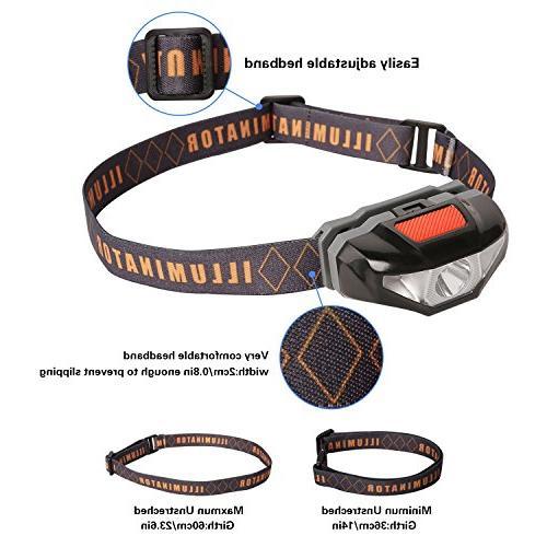Mini LED Headlamp with Sport Running Head Runner, Night Jogging,Hiking,Biking,Camping,Reading,Dog Walking,Kids,Only 1.6oz/48g