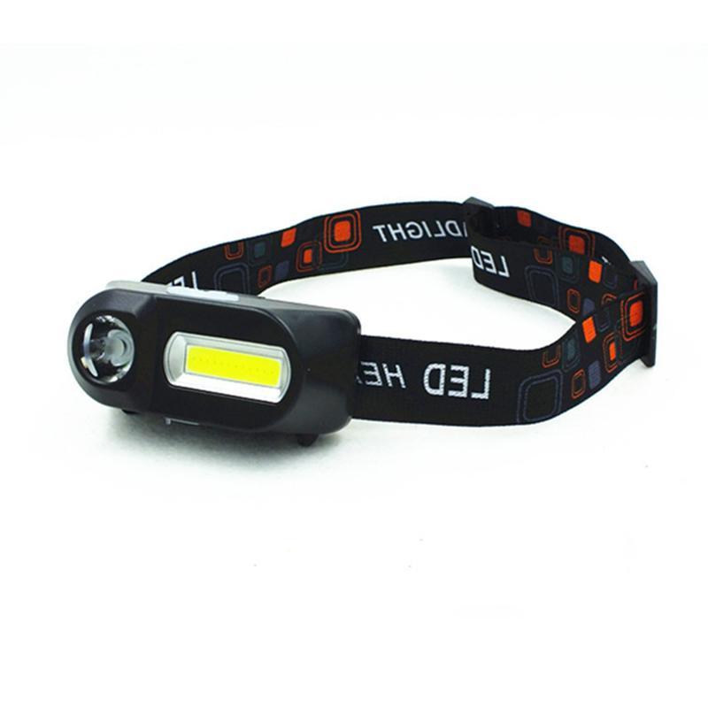 Mini outdoor XPE + headlight emergency head-mounted with USB charging headlight flashlight