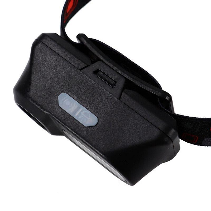 Mini portable XPE + COB LED headlight with flashlight