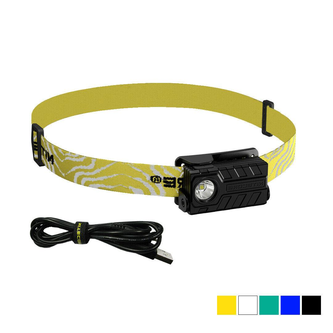 nu20 360 lumens usb rechargeable led headlamp