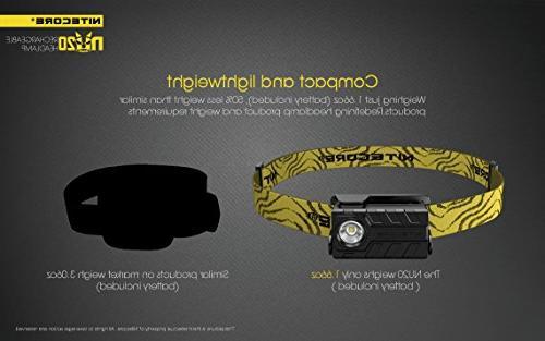 Nitecore NU20 Rechargeable Headlamp with LightJunction USB Wall Plugs