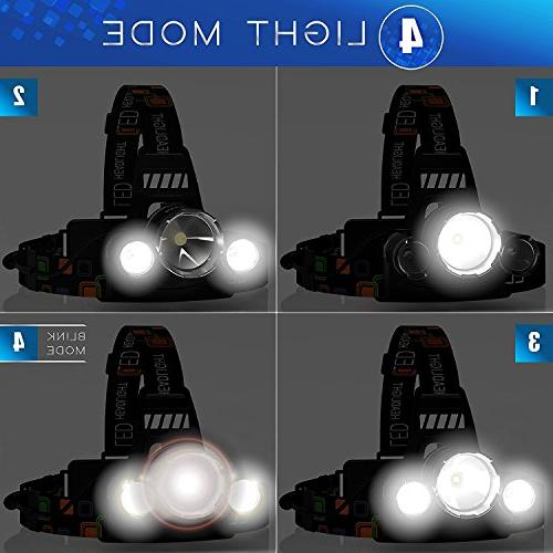 ONE DAY SALE! 16000 LED, 18650 flashlights Hat Light, Bright Head