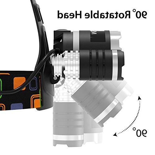 ONE SALE! Brightest and Best LED Headlamp 16000 LED, flashlights Waterproof Hard Light, Head Running or Camping
