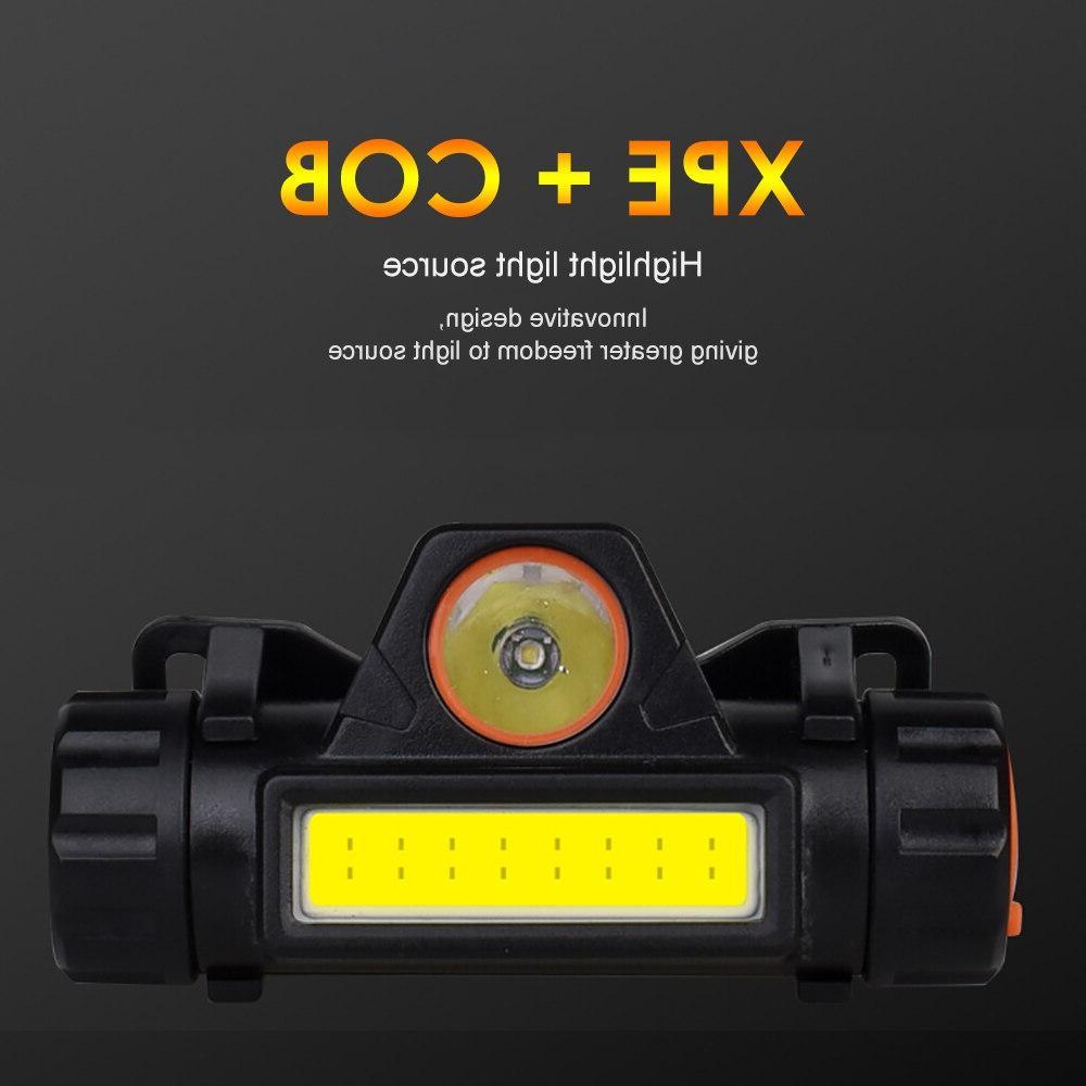 SUNYIMA Portable headlight Q5+COB Waterproof Multifunctional
