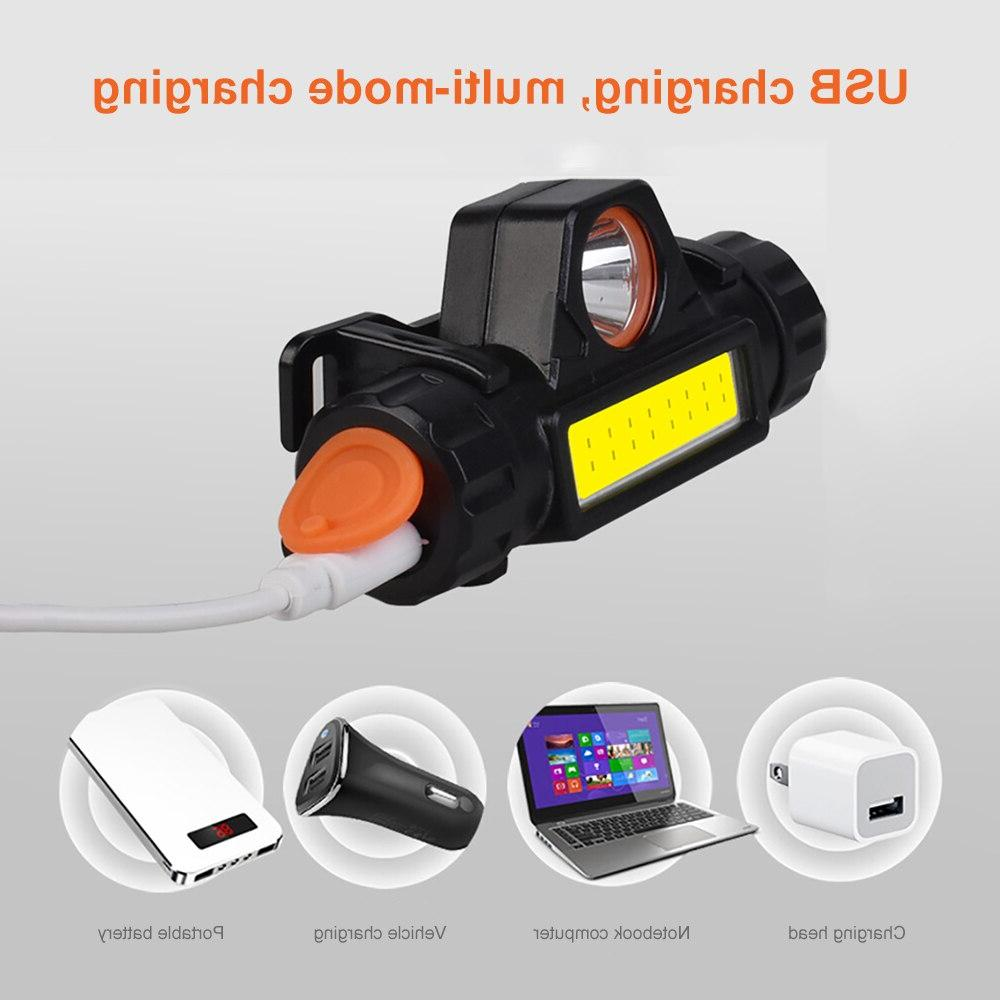 SUNYIMA headlight Mini flashlight Q5+COB Waterproof Multifunctional