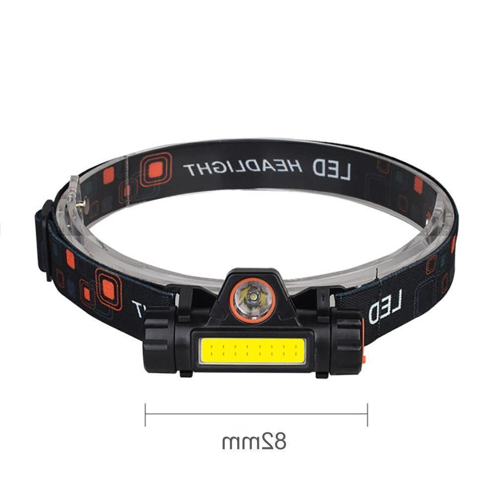 SUNYIMA headlight Mini flashlight Q5+COB Multifunctional