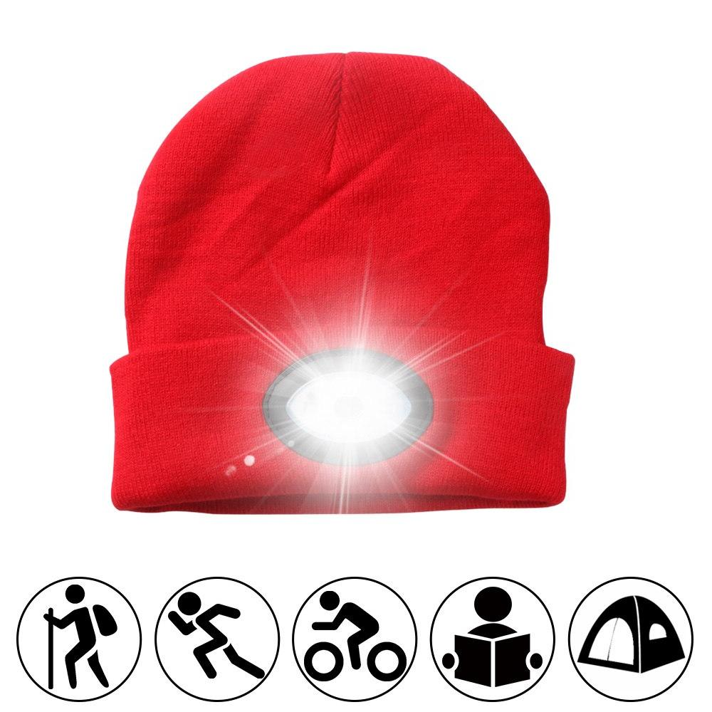 Powerful led <font><b>Headlamp</b></font> Knitted Rechargeable Light <font><b>Hands</b></font> <font><b>Free</b></font> for Climbing Warm