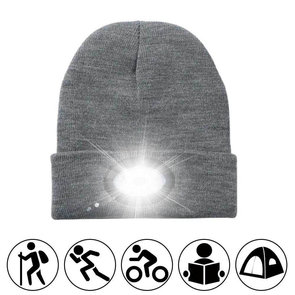 Powerful led <font><b>Headlamp</b></font> 6LED Knitted Rechargeable Light for Warm