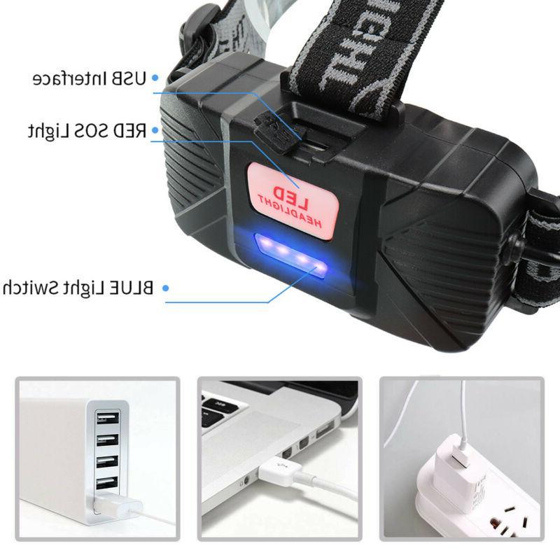 350000Lumens 5X Headlamp Rechargeable Head Torch Flashlight