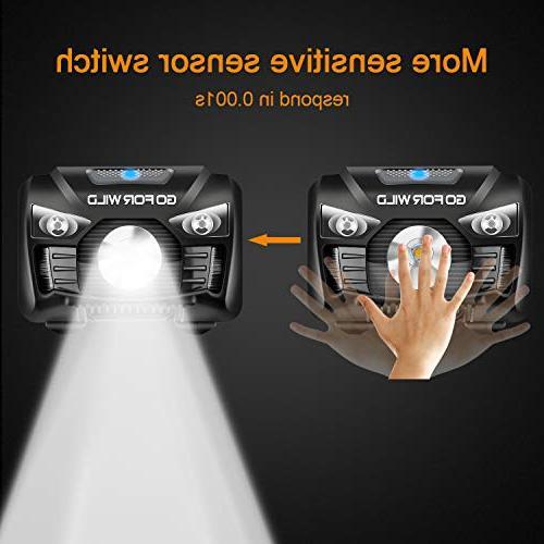 Rechargeable Headlamp, White Head lamp and Perfect Lightweight, Waterproof, Adjustable Headband, 5
