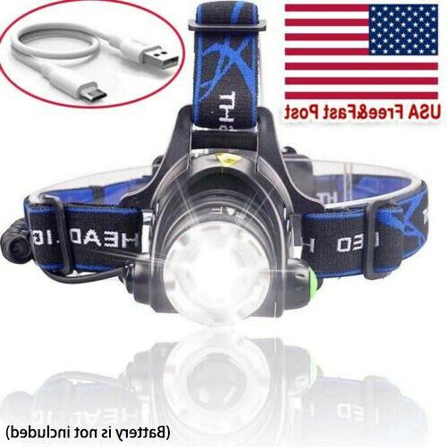 Rechargeable Tactical T6 LED Head Torch
