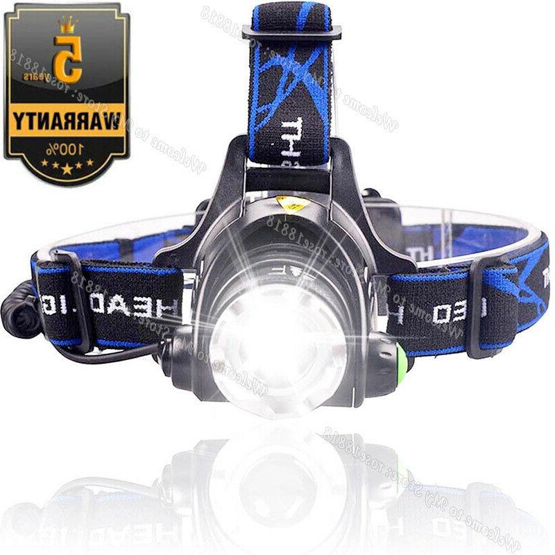 rechargeable tactical 350000lm t6 led headlamp 1865