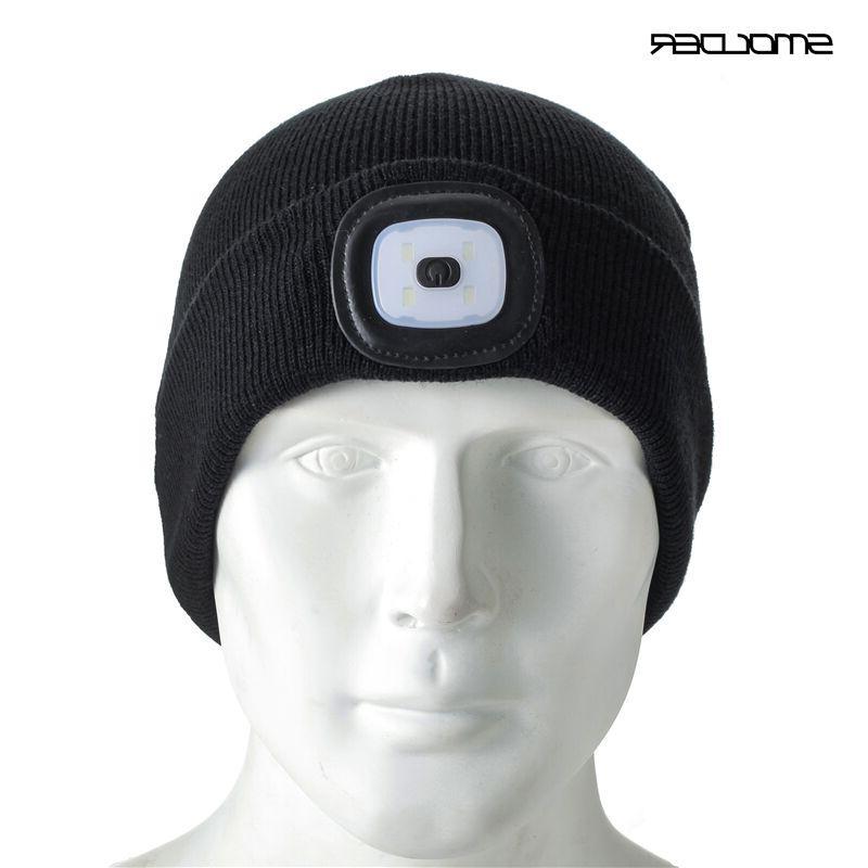 Rechargeable Beanie Cap Hat <font><b>Free</b></font> <font><b>Flashlight</b></font> Hunting,Camping,Jogging,Fishing