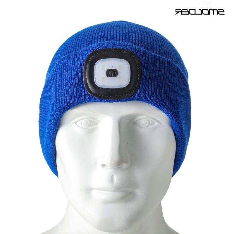 Rechargeable Beanie Cap <font><b>Headlamp</b></font> Hat <font><b>Flashlight</b></font> Hunting,Camping,Jogging,Fishing