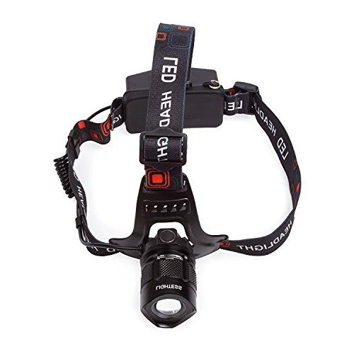 LIGHTESS Head Waterproof Headlamps Light Rechargeable Lights 5 USB Function for Camping, Hiking