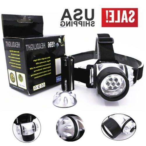 Waterproof 7 LED Head Lamp Rechargeable AAA Headlamp Head Li