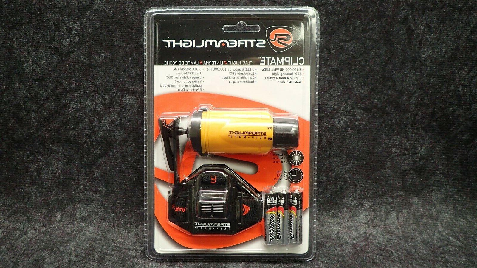 streamlight 61100 clipmate flashlight headlamp w head