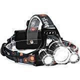Headlamp, Six Foxes Super Bright 5000 Lumen CREE LED Work He
