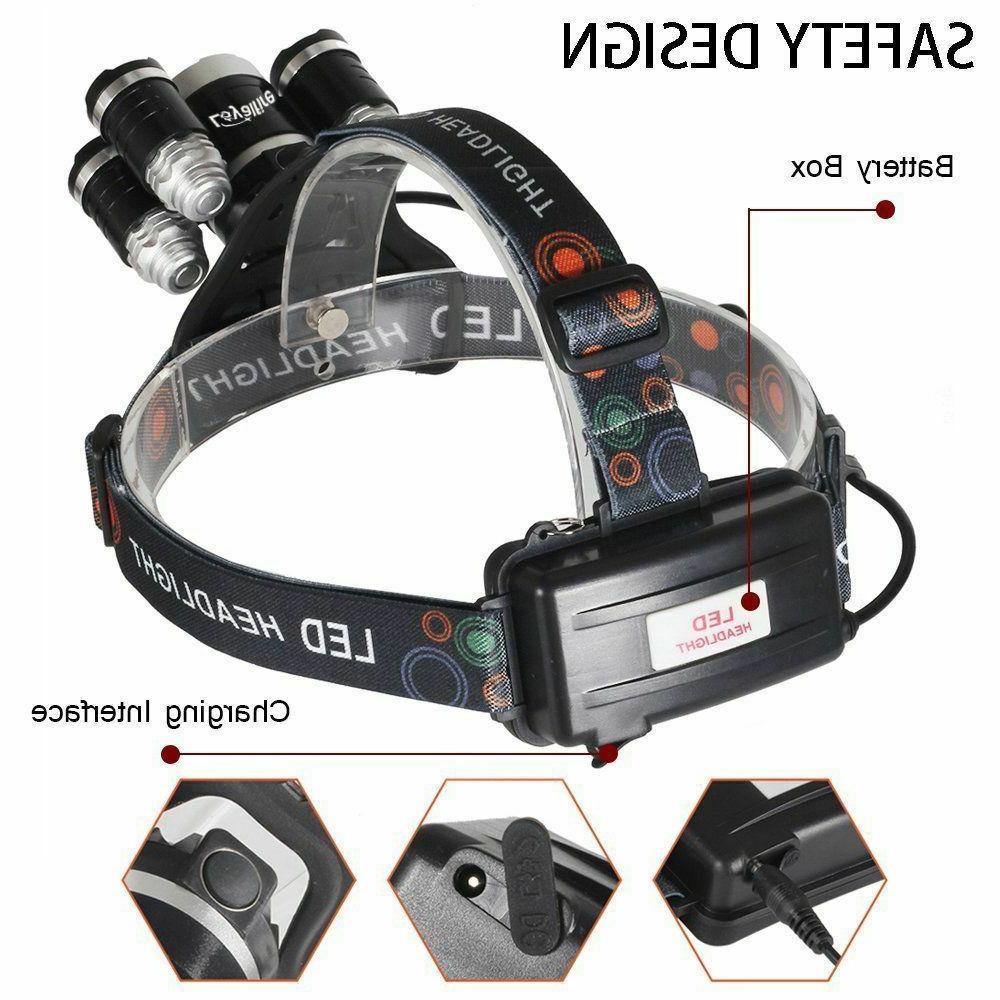 Super-bright 90000LM XM-L T6 Headlight Flashlight Head