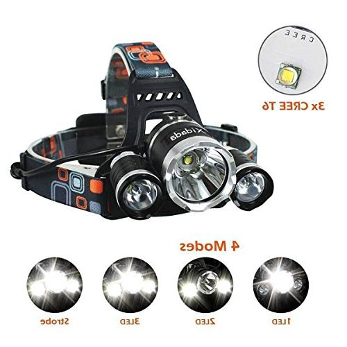 Super Bright Lumens 3 CREE LED and Lights for Hiking