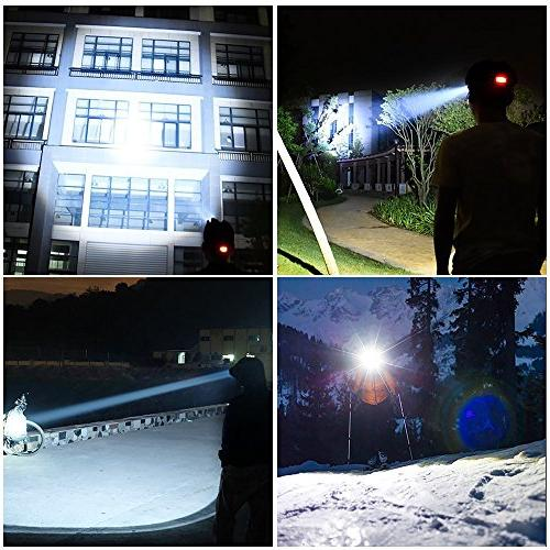 Super Bright Lumens CREE and Rechargeable Batteries,Waterproof Lights Running Hiking Fishing