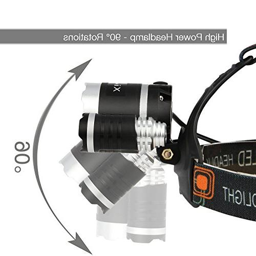 Super Lumens 3 T6 CREE LED Lamp Bead and Samsung 18650 3000mAh Rechargeable Li-ion Hiking