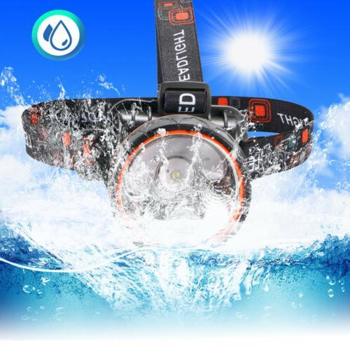 1x waterproof Rechargeable Headlight Lumens For