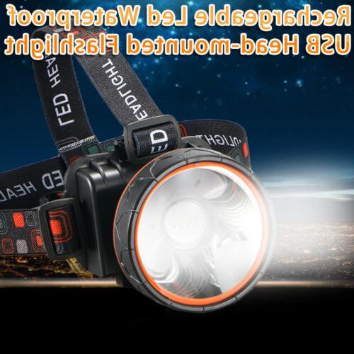 1x Bright Headlamp waterproof Rechargeable Lumens Hunting